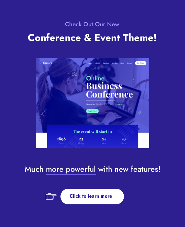 1616587585 367 confera ads - The Keynote - Conference / Event WordPress