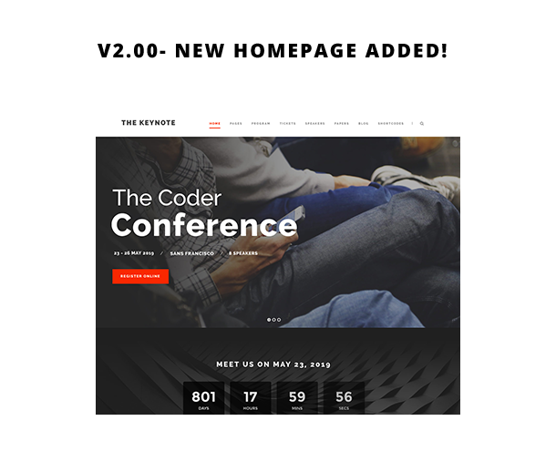 1616587585 893 screen new hp - The Keynote - Conference / Event WordPress