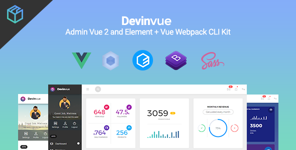 1616630989 724 01 preview.  large preview - Devinvue - Admin Vue 2 and Element + Vue Webpack CLI Kit