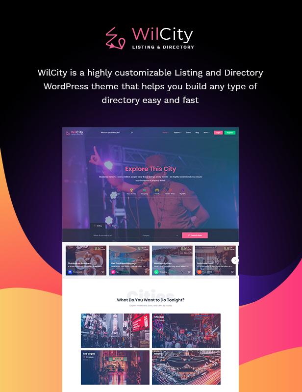 2 - Wilcity - Directory Listing WordPress Theme