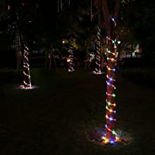 237d5194 487a 4501 9339 2627ad3b6162. CR0,0,1200,1200 PT0 SX220   - LE LED Rope Light with Timer, Multi Colored, 8 Mode, Low Voltage, Waterproof, 33ft 100 LED Indoor Outdoor Plug in Light Rope and String for Deck, Patio, Bedroom, Pool, Boat,Landscape Lighting and More
