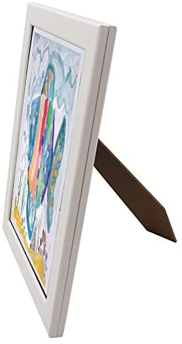 314D9OpsHDL. AC  - Art Frames for Wall and Tabletop Display with Front Opening for Easy Showcase, Great for Kids Drawings, Artworks, Children Art Projects, Schoolwork, Home or Office (White, 8.5x11 Frame, 2-Pack)