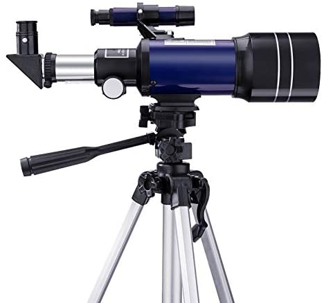 411JMUfnIQL. AC  - BNISE Telescope for Kids 10 and Up, 70mm Aperture 300mm Kids Telescope for Astronomy Beginners, 15-150X Astronomical Refractor Telescope with Adjustable Tripod, Phone Adapter, Wire Shutter and Bag