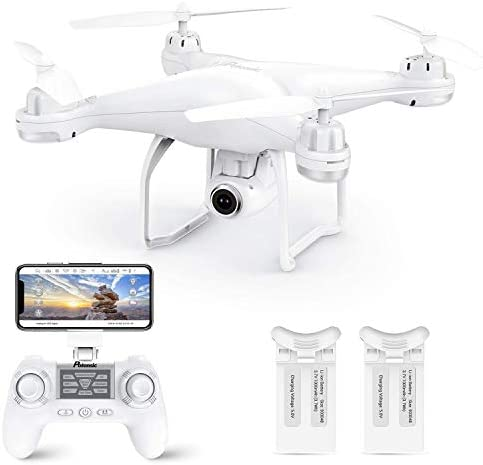 412eGJeZkCL. AC  - Potensic T25 GPS Drone, FPV RC Drone with Camera 1080P HD WiFi Live Video, Dual GPS Return Home, Quadcopter with Adjustable Wide-Angle Camera- Follow Me, Altitude Hold, Long Control Range, White