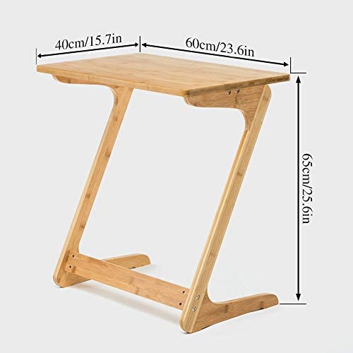 414MuR4yLzL. AC  - Sofa Table TV Tray NNEWVANTE End Table Laptop Desk Removable Console/Side/Snack for Coffee Bed Sofa Eating Writing Reading Living Room- Natural