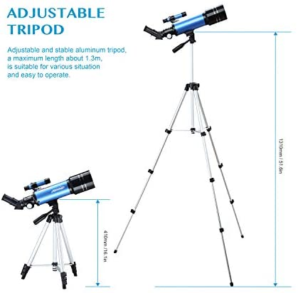 417+RFEuUDL. AC  - AOMEKIE Telescopes for Adults Astronomy Beginners 70mm/400mm Kids Telescope with Phone Adapter Tripod Finderscope Erect-Image Diagonal and Moon Filter