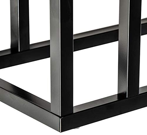 4191TfEQa+L. AC  - Honey-Can-Do C End Table, Black, 20 lbs