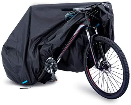 41Dr9viR2nL. AC  - Ripstop Bike Cover with Waterproof Rating of 1500mm. This Bicycle Cover Waterproof Outdoor is 210D Double Stitched Webbing Strap and Unique Breathe Valves