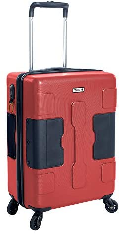 41GBhpkfYQL. AC  - TACH V3 Hard Shell Carry On Luggage 22x14x9 | Carry on Luggage with Spinner Wheels & Patented Built-In Connecting System | One Piece Rolling Suitcase Links 6 Bags At Once (Red)