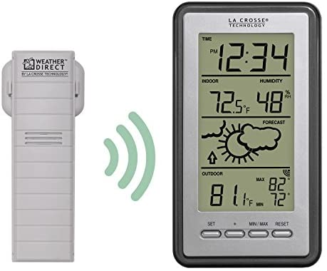 41HMXijw06L. AC  - La Crosse Technology WS-9230U-IT-INT Digital Forecast Thermometer with Temp & Humidity