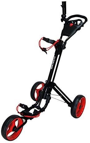41JLdJdteEL. AC  - Qwik-Fold 3 Wheel Push Pull Golf CART - Foot Brake - ONE Second to Open & Close!