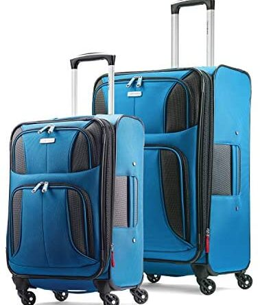 41JQkjYJL. AC  379x445 - Samsonite Aspire Xlite Softside Expandable Luggage with Spinner Wheels, Blue Dream, 2-Piece Set (20/25)
