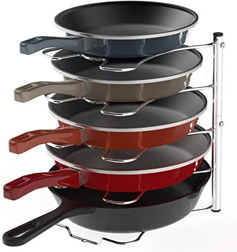 41O33sSzZCL. AC  - SimpleHouseware Kitchen Cabinet Pantry Pan and Pot Lid Organizer Rack Holder, Chrome