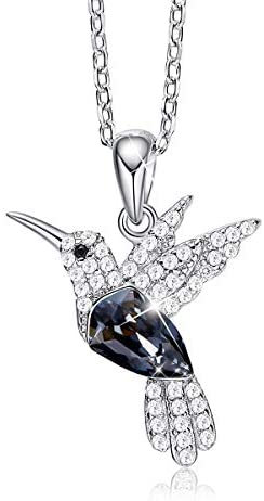 41XMCfGvJZL. AC  - CDE Valentines Day Necklace Gifts for Women Hummingbird Necklaces S925 Sterling Silver Necklaces for Women Embellished with Crystals from Austria Valentines Jewelry Gifts for Women Animal Necklace for Girlfriend Mom