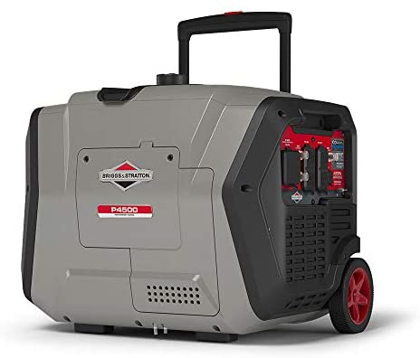 41c2r9AYzqL. AC  - Briggs & Stratton 30795 P4500 PowerSmart Series, Electric Start, Powered Engine Inverter Generator, Gray