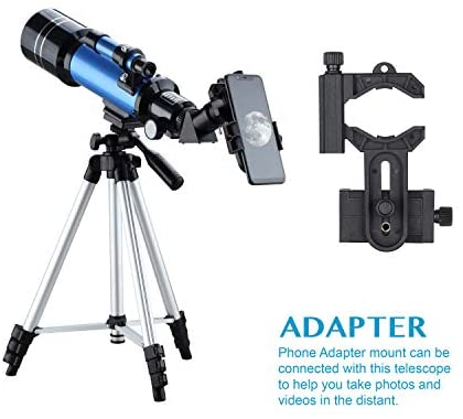 41ctLq6NB5L. AC  - AOMEKIE Telescopes for Adults Astronomy Beginners 70mm/400mm Kids Telescope with Phone Adapter Tripod Finderscope Erect-Image Diagonal and Moon Filter