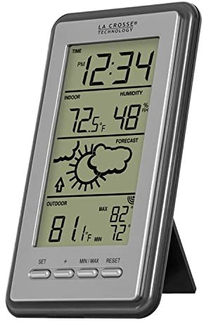 41dcp33aQ1L. AC  - La Crosse Technology WS-9230U-IT-INT Digital Forecast Thermometer with Temp & Humidity