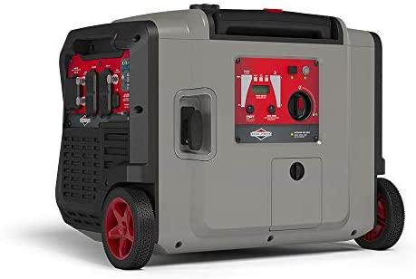 41hmCC6CKjL. AC  - Briggs & Stratton 30795 P4500 PowerSmart Series, Electric Start, Powered Engine Inverter Generator, Gray