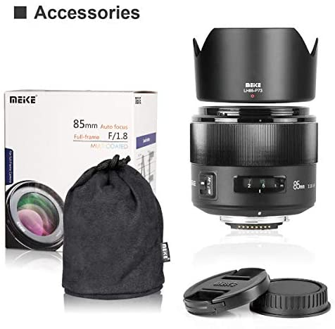 41jVol gJgL. AC  - MEKE 85mm F1.8 Auto Focus Full Frame Large Aperture Lens for Nikon F Mount DSLR Cameras D850 D750 D780 D610 D3200 D3300 D3400 D3500 D5500 D5600 D5300 D5100 D7200 and Other F Mount Cameras