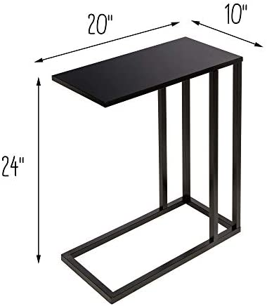 41jj3wXTwvL. AC  - Honey-Can-Do C End Table, Black, 20 lbs