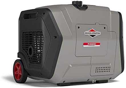 41yQZTX3NxL. AC  - Briggs & Stratton 30795 P4500 PowerSmart Series, Electric Start, Powered Engine Inverter Generator, Gray