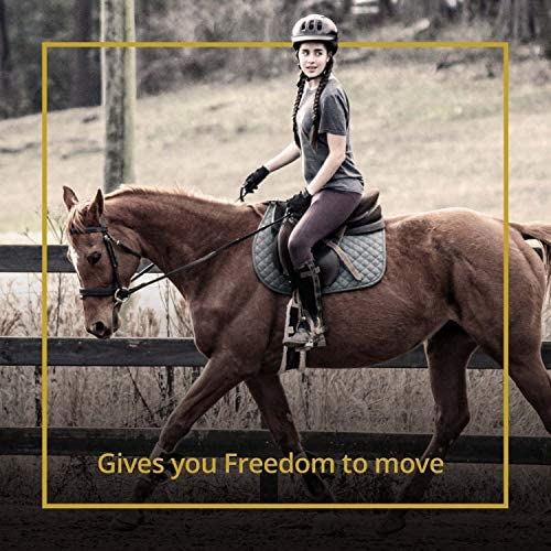 514Gbx+RuYL. AC  - Kavallerie Saddle Pad - Helps with Saddle Bridging, Sore Back, Swayed Back, High Withers -English Bareback Pad for Horses, Protective, Perfect for Eventing, Schooling, Dressage, Jumping- Middle Riser