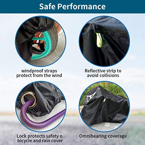 "5160X9A1RUL. AC  - Bike Covers Outdoor Storage Waterproof,Bicycle Cover Waterproof Outdoor,210D Tear-Proof and Double Seamed Heat Sealing Material Anti-Sun Snow and dust,Suitable for Covering Two or Three 29""Bikes."