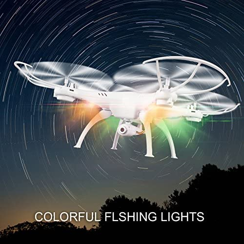516gTGMf3oL. AC  - Cheerwing Syma X5SW-V3 WiFi FPV Drone 2.4Ghz 4CH 6-Axis Gyro RC Quadcopter Drone with Camera, White