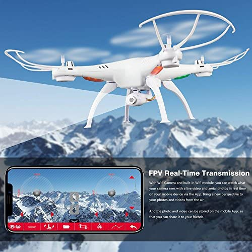 517po2njMaL. AC  - Cheerwing Syma X5SW-V3 WiFi FPV Drone 2.4Ghz 4CH 6-Axis Gyro RC Quadcopter Drone with Camera, White