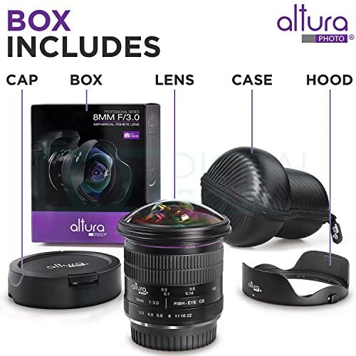 519NfJDgqTL. AC  - Altura Photo 8mm f/3.0 Professional Ultra Wide Angle Aspherical Fisheye Lens for Canon EOS 90D 80D 77D Rebel T8i T7 T7i T6i T6s T6 SL2 SL3 DSLR Cameras