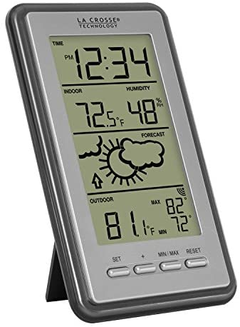 519ntRVpzcL. AC  - La Crosse Technology WS-9230U-IT-INT Digital Forecast Thermometer with Temp & Humidity