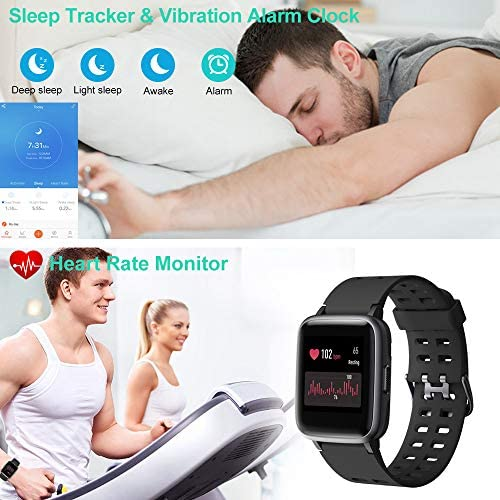 51IgIMWAvaL. AC  - Willful Smart Watch for Android Phones Compatible iPhone Samsung IP68 Swimming Waterproof Smartwatch Sports Watch Fitness Tracker Heart Rate Monitor Digital Watch Smart Watches for Men Women Black