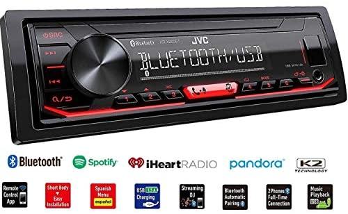 51MFt7FIzdL. AC  - JVC KD-X260BT Built-in Bluetooth, AM/FM, USB, MP3, Pandora, Spotify, iHeartRadio Digital media receiver, Works with Apple and Android Phones, iPod/iPhone Music Playback