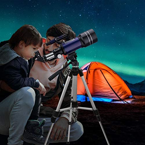 51TFfDjATWL. AC  - BNISE Telescope for Kids 10 and Up, 70mm Aperture 300mm Kids Telescope for Astronomy Beginners, 15-150X Astronomical Refractor Telescope with Adjustable Tripod, Phone Adapter, Wire Shutter and Bag