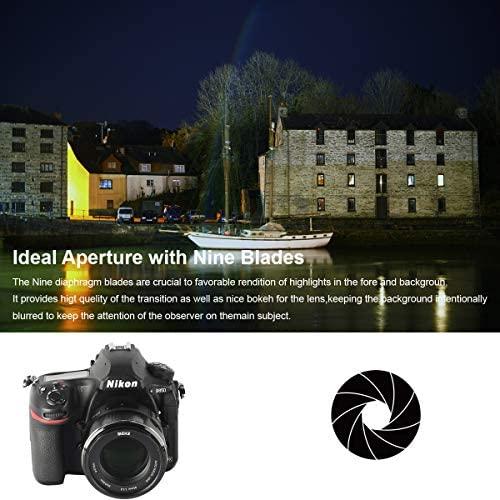 51TFsZtddEL. AC  - MEKE 85mm F1.8 Auto Focus Full Frame Large Aperture Lens for Nikon F Mount DSLR Cameras D850 D750 D780 D610 D3200 D3300 D3400 D3500 D5500 D5600 D5300 D5100 D7200 and Other F Mount Cameras
