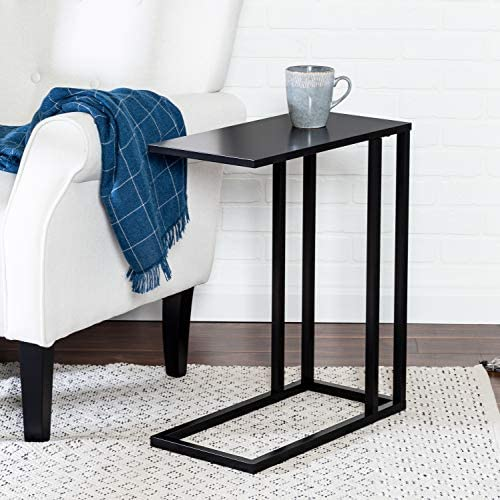 51WLcm1R6yL. AC  - Honey-Can-Do C End Table, Black, 20 lbs
