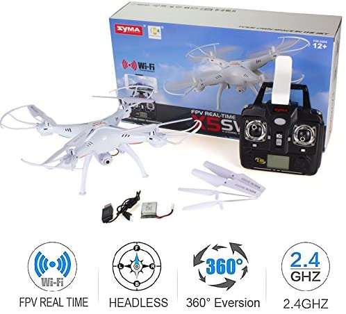 51a9MKbrbrL. AC  - Cheerwing Syma X5SW-V3 WiFi FPV Drone 2.4Ghz 4CH 6-Axis Gyro RC Quadcopter Drone with Camera, White