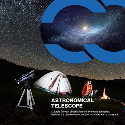 51aWuGe9xsL. AC  - ESSLNB Telescope for Kids 70mm Refractor Telescope with Smartphone Adapter 51.6in Tripod Astronomical Telescopes for Astronomy Beginners Adults 3X Barlow Moon Filter Fully Coated Lens