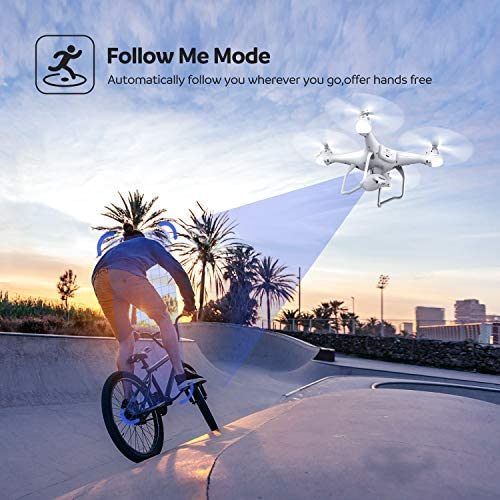 51cszyhq UL. AC  - Potensic T25 GPS Drone, FPV RC Drone with Camera 1080P HD WiFi Live Video, Dual GPS Return Home, Quadcopter with Adjustable Wide-Angle Camera- Follow Me, Altitude Hold, Long Control Range, White