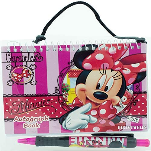 51hS8N1brxL. AC  - Disney Minnie Mouse Red Autograph Book with 1 Retractable Pen