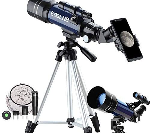 51jFL0SIL. AC  500x445 - ESSLNB Telescope for Kids 70mm Refractor Telescope with Smartphone Adapter 51.6in Tripod Astronomical Telescopes for Astronomy Beginners Adults 3X Barlow Moon Filter Fully Coated Lens