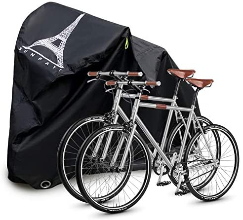 "51k4C6Zd7rL. AC  - Bike Covers Outdoor Storage Waterproof,Bicycle Cover Waterproof Outdoor,210D Tear-Proof and Double Seamed Heat Sealing Material Anti-Sun Snow and dust,Suitable for Covering Two or Three 29""Bikes."