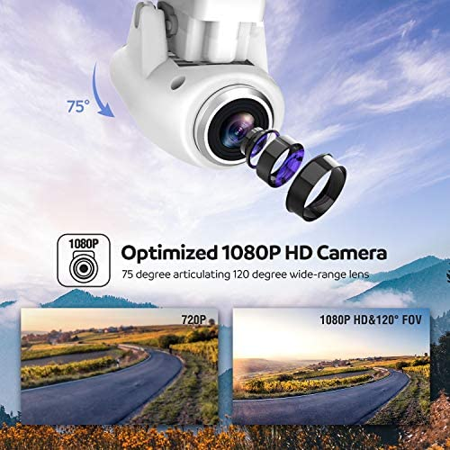 51lZCpPSssL. AC  - Potensic T25 GPS Drone, FPV RC Drone with Camera 1080P HD WiFi Live Video, Dual GPS Return Home, Quadcopter with Adjustable Wide-Angle Camera- Follow Me, Altitude Hold, Long Control Range, White
