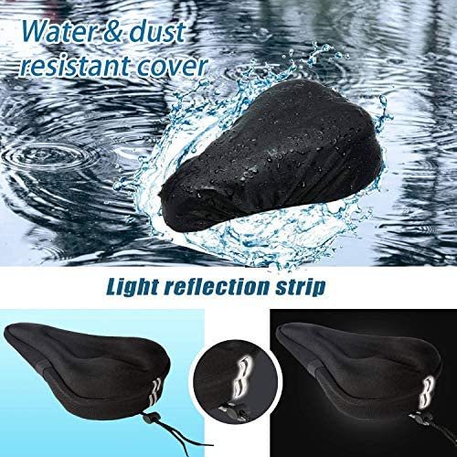 51m7nwNbHaL. AC  - Mountain Bike Seat Cushion Cover Extra Soft Gel Bicycle Seat Cover, Soft Silicone Padded Bike Saddle Cover, Anti-Slip Bicycle Seat Cushion Spinning with Waterpoof&Dust Resistant Cover Outdoor Cycling