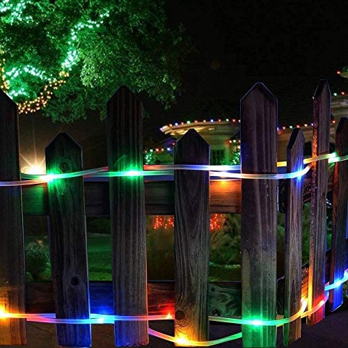 51nsumXyesL. AC  - LE LED Rope Light with Timer, Multi Colored, 8 Mode, Low Voltage, Waterproof, 33ft 100 LED Indoor Outdoor Plug in Light Rope and String for Deck, Patio, Bedroom, Pool, Boat,Landscape Lighting and More