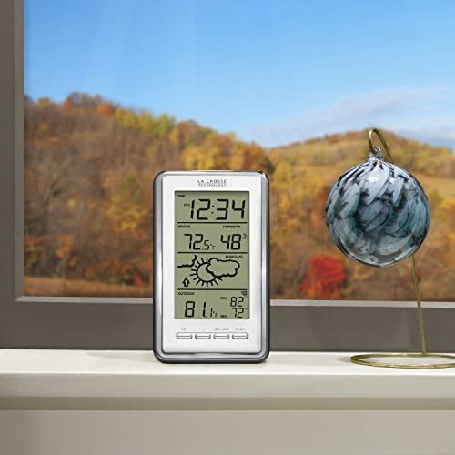 51okcQCV83L. AC  - La Crosse Technology WS-9230U-IT-INT Digital Forecast Thermometer with Temp & Humidity