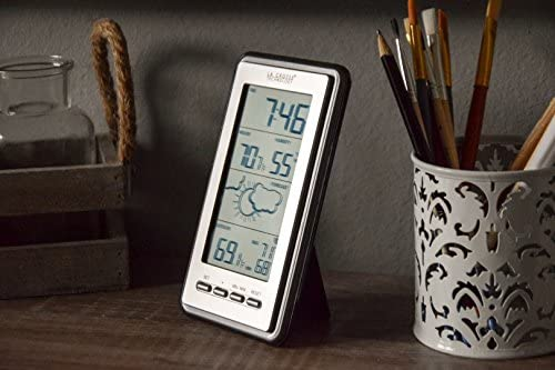 51qd2pnf9 L. AC  - La Crosse Technology WS-9230U-IT-INT Digital Forecast Thermometer with Temp & Humidity