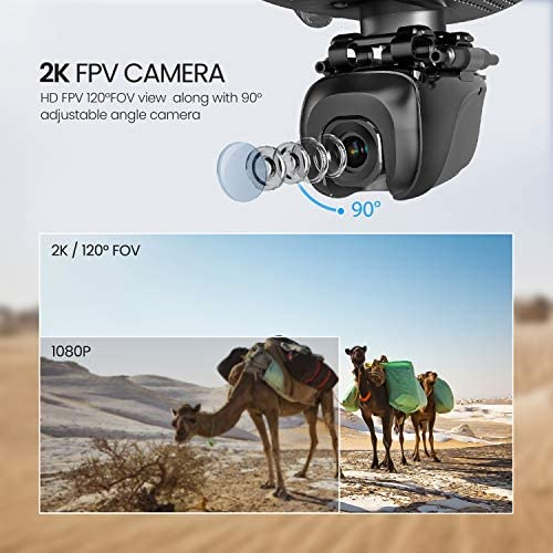 51qnOYshxTL. AC  - Potensic D58, FPV Drone with 2K Camera, 5G WiFi HD Live Video, GPS Auto Return, RC Quadcopter for Adult, Portable Case, 2 Battery, Follow Me, Easy Selfie Expert Beginner