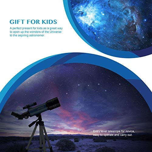 51sGKCqO+lL. AC  - AOMEKIE Telescopes for Adults Astronomy Beginners 70mm/400mm Kids Telescope with Phone Adapter Tripod Finderscope Erect-Image Diagonal and Moon Filter