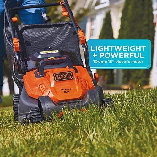 51tSe7hMtFL. AC  - BLACK+DECKER Electric Lawn Mower, 10 -Amp, 15-Inch (BEMW472BH)
